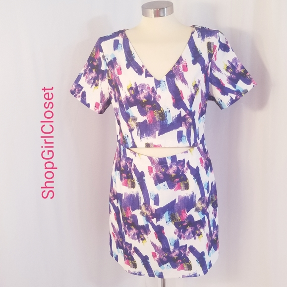 Very J Crop Top Dress..Purple..Size L